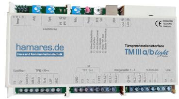 hamares Türmanager TM3-a/b light - Siedle, Ritto, Grothe, STR an FritzBox, Speedport, Telefonanlage