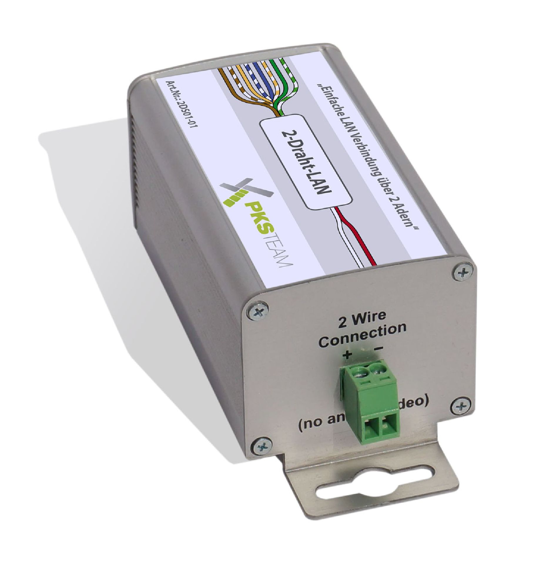 2-Draht-Netzwerk-Adapter mit PoE